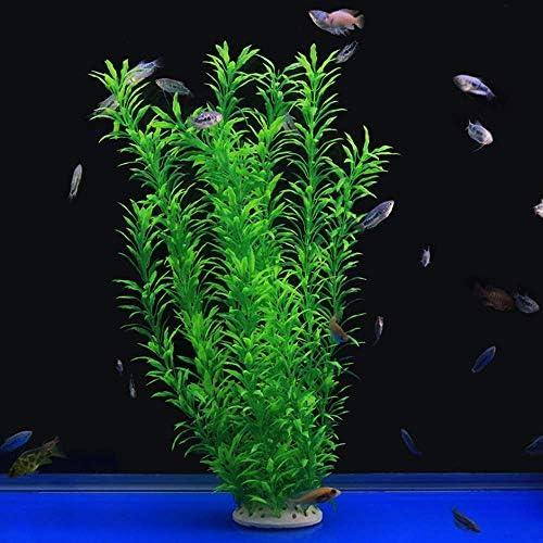 16in Alegi Large Freshwater Aquarium Plants Artificial Plastic AG44Pink ,Fish Tank Plants Decoration Ornaments