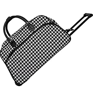 World Traveler Designer Print Collection Rolling Wheeled Duffle Bag 21-inch