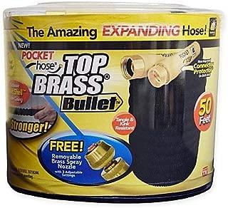 Top Brass Bullet 50-Foot Expanding Hose (1),Black/Gold