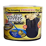 Best expanding hose - Top Brass Bullet 50-Foot Expanding Hose (1),Black/Gold Review