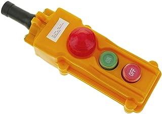 BeMatik - Caja de 2 pulsadores conmutador y parada de emergencia de la serie COB