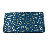 Mytoptrendz® Teal Blue Musical Note Scarf Printed with Gold Shiny Foil Print Neck Scarf Wrap Stole