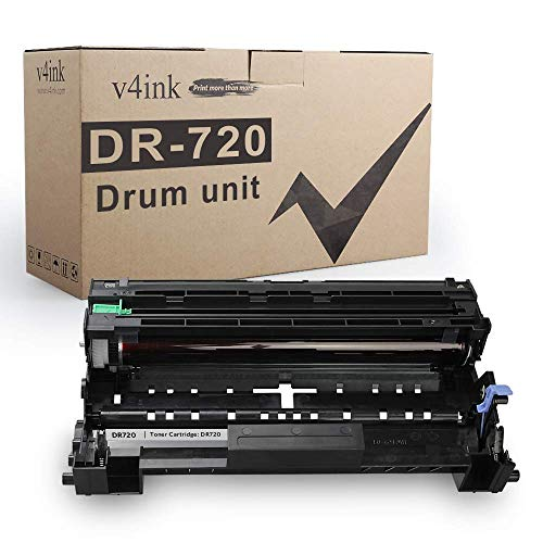 V4INK Compatible Drum Replacement for Brother DR720 DR-720 Drum Using with Brother hl-5450dn hl-5470dw mfc-8510dn dcp-8110dn hl-6180dwt mfc-8710dw mfc-8950dw mfc-8910dw dcp-8150dn Printer (Not Toner)