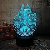 Ilusión noche lámpara Películas Star Wars nave espacial rgb vacaciones decoración iluminación para-7 colores cambiantes