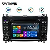 SWTNVIN Autoradio Stereo Adatto per Mercedes Benz B200 A B V Class Viano Vito Sprinter VW Crafter VW LT3 7 pollici Navigatore GPS Dual Din Head Unit Supporto USB RDS Video Bluetooth SWC DVD Player