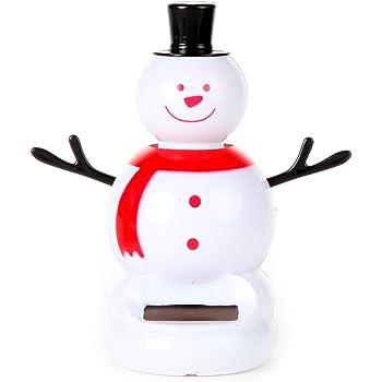 Drumming Bear /& Bobblehead Santa Make It Books SG/_B01936Z182/_US 4 Snowman Swinging Santa Christmas Solar Set of