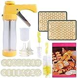 28-Piece Cookies Press Gun Kit Set DIY Biscuit Maker with 16 Discs, 6...
