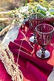 100% Mosel Tischläufer Samt, in Bordeaux Rot (28 cm x 5 m), Tischband aus Polyester in matter Samt-Optik, edle Tischdeko für den Herbst & Winter, Dekoration zu besonderen Anlässen - 2