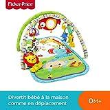 Fisher-Price Amis de la Jungle 3-en-1 Tapis d'Éveil Musical pour Bébé,...
