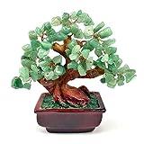 NYKKOLA Mix Gem Stone Money Amethyst Rose Citrine Carnelian Clear Quartz Feng Shui Plants & Flowers Artificial Trees Green