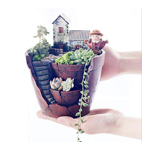 Plants Pot,Hgrope Tiny Creative Flower Pot Holders,Hanging Garden Design with Sweet House