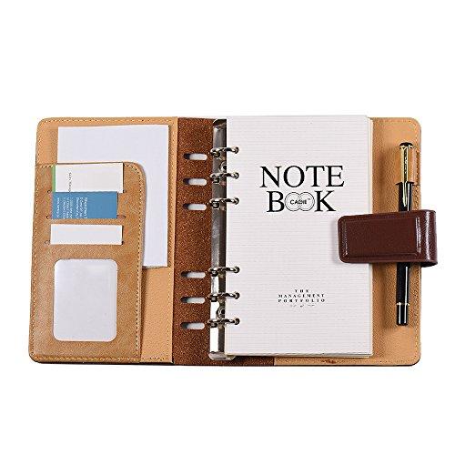 Aibecy Cuaderno de espiral cartón negocial A6
