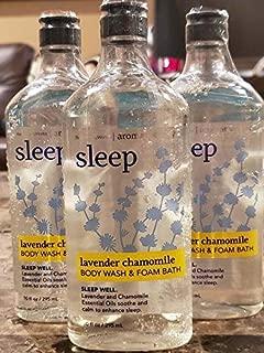 Lot of 3 Bath & Body Works Aromatherapy Sleep Lavender Chamomile Body Wash & Foam Bath (Lavender Chamomile Sleep)