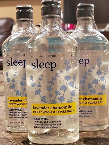Lot of 3 Bath & Body Works Aromatherapy Sleep Lavender Chamomile Body Wash & Foam Bath (Lavender Chamomile Sleep)