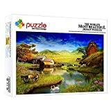 ZTCLXJ Rompecabezas 1000 Piezas Paisaje Rural Paisaje De Fantasía 1000 Piezas Genuine Puzzles Puzzle para Adultos Niño Niña Educativo para Niños para Ocio Y Entretenimiento 52 × 38 Cm