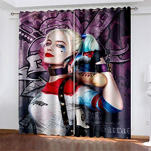 FACWAWF Cortinas Caseras De Poliéster De Halloween para Dormitorio, Sala De Estar, Balcón, Estudio, Cortinas Opacas 150x166cm(2pcs)