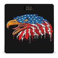 イーグルとクールなアメリカ国旗 LCDディスプレイ付き高精度スマートフィットネススケール体重デジタルバスルームボディスケール