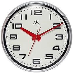 Infinity Instruments 14097SV-3282 Lexington Avenue Wall Clock
