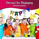 Recipientes individuales para cupcakes – Soporte para cupcakes – Recipientes desechables de plástico transparente – apilables – cúpula profunda (100 unidades)
