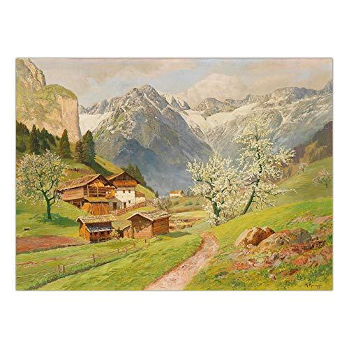 tzxdbh Pintura al óleo Abstracta del Cartel de la película Montaña clásica rangenow montaña Los Mejores Regalos de cumpleaños para Amigos