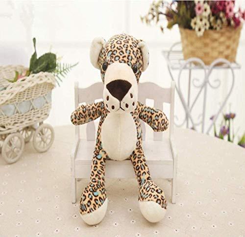 knuffel nieuw meer dan 20 cm cartoon jungle luipaard knuffel zachte pop baby speelgoed verjaardagscadeau