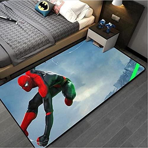 A-Generic Tapis de Tapis pour Enfants pour Enfants Spiderman Kids Tapet Tapis pour Chambre à Coucher Capitaine Amérique Tapis antidérapant 120x160cm-100x160cm