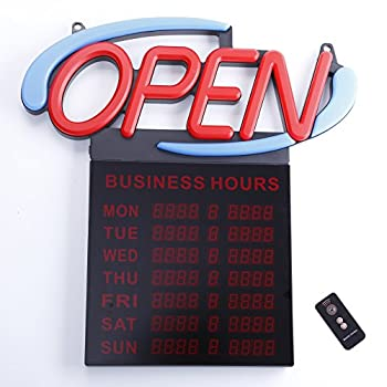 Premier POS 20  Oval Bus HRS Open Sign w/Wireless Remote