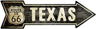 Smart Blonde Outdoor Decor Vintage Route 66 Texas Novelty Metal Arrow Sign A-129