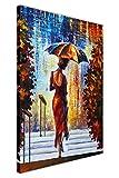 Canvas It Up Femme avec Parapluie sur Les étapes par Leonid Afremov sur des...