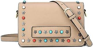 DooDoo Women's Leather Wristlet Mini Crossbody Bag, Small Shoulder Bag Clutch Purse
