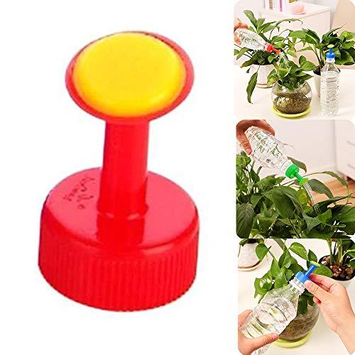 cheap4uk Tapa de riego de 1 Pieza para Botellas de plástico Regadera de plástico Puede rociar la Cabeza Aspersor Ideal para macetas de riego de Plantas de Interior.