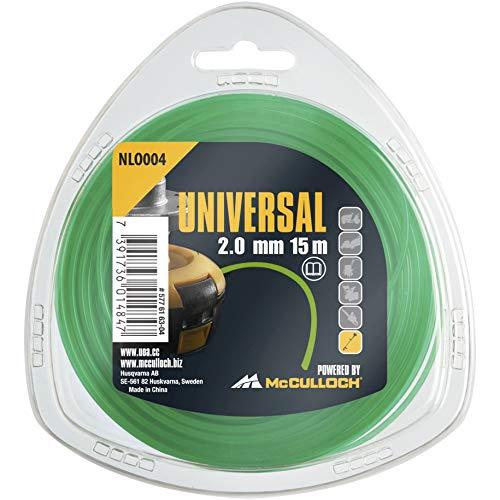 Universal 577616304 NLO004 de Repuesto para Recortadora de césped, Longitud 15 m, Hilo Ø 2,0 mm, Nailon Resistente al desgarro, Accesorios McCulloch, Standard