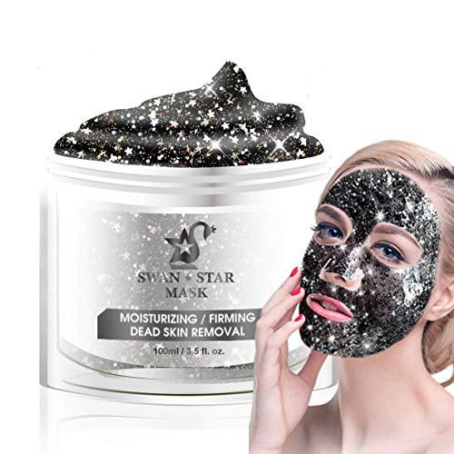 SWAN STAR Peel Off Masks for Face, Glittering Star Facial Peel Off Mask,Deep Cleaning Facial Mask For Acne, Oily Skin & Blackheads