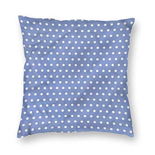 YUAZHOQI Pillow Covers 16' x 16', Retro,White Classic Polka Dots, Square Decorative Pillowcases for Bench Couch Livingroom(1 Pack)