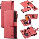 YNLRY Étui portefeuille multifonction 2 en 1 pour iPhone 11 Pro Max avec 14 emplacements pour...