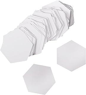 100 Pieces Hexagon Paper Piecing Quilting Templates