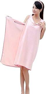 バスタオル 着れるスタイル ずり落ちない バスローブ お風呂上がり・プール・ジム 抗菌仕様(ピンク)