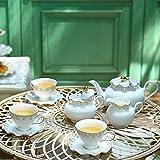 EURYTKS Porcelain Tea Sets English afternoon tea set black teacup living room high-end ceramic European coffee cup organizer (Color : 15 pieces set)