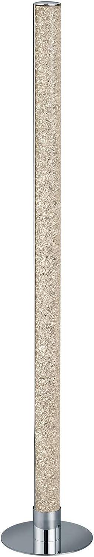 Nicht Zutreffend LED-Stehlampe Stehleuchte Standleuchte  104 cm  Metall  Chromfarben  Dimmbar  Fernbedienung  RGB-Farbwechsel