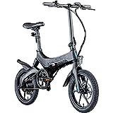 Zündapp Z201 16 Zoll Klapprad E-Bike Pedelec Faltrad Elektrofaltrad Elektrofahrrad StVZO (schwarz)