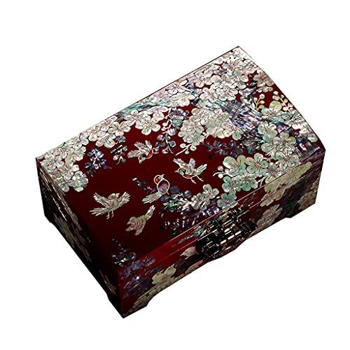 YUTRD ZCJUX Caja de joyería Regalo de Boda de Madera de Madera de Gama Alta joyería Collar Caja de Almacenamiento de Estilo Europeo Caja de joyería con Cerradura