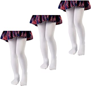 0d3c6483efa JIAYI Girls Dance Tights Full-Footed Microfiber Toddler Tights Little Girls   Ultra-Soft