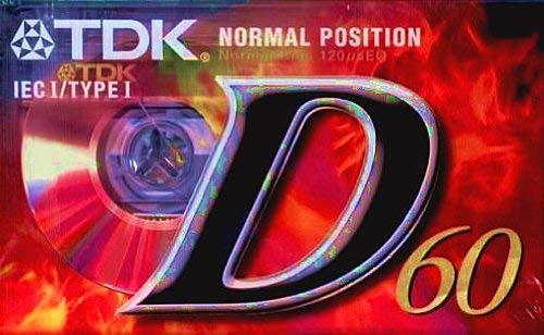 TDK D-60 EB Audio-Kassette (60min) 3er Pack