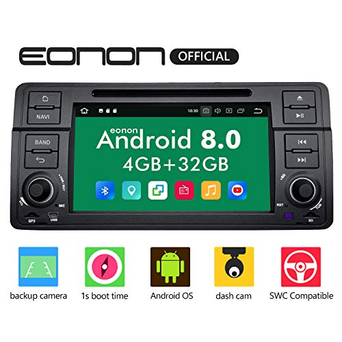 Car Stereo Radio Eonon Double Din with Backup Camera Android Auto, 4GB RAM 32GB ROM Octa-Core Applicable to BMW 3 Series 1999,2000,2001,2002,2003 and 2004(E46)Support Dual Bluetooth, Fastboot-GA9150B