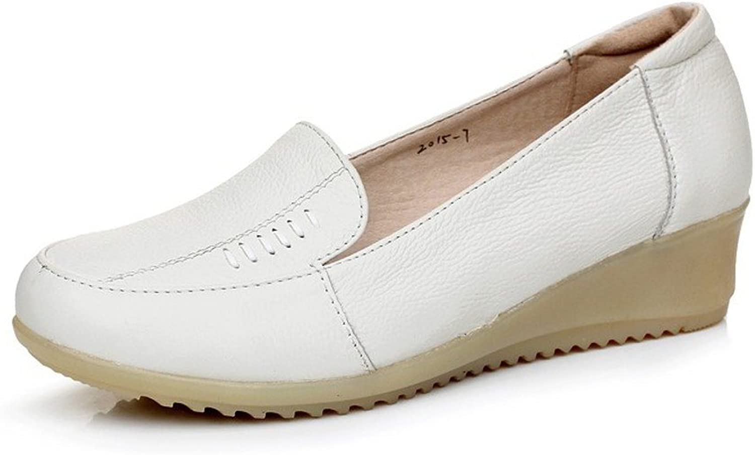 MET RXL Ladies Leather shoes Round-Headed for a Comfortable Casual shoes Beef Tendon Comfortable Nursing shoes at The end of
