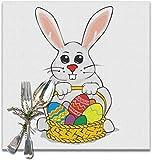 The VunKo - Set di 6 tovagliette colorate a forma di uovo di Pasqua riutilizzabili, perfette per l'uso quotidiano, antiscivolo, per tavolo da pranzo, cucina, decorazione per la casa