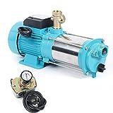 Pompa centrifuga idraulica domestica, pompa da giardino, potente pompa centrifuga, pompa a getto d'acqua, pompa in acciaio inox, 1300 W, 4000 l/h, 9,8 bar