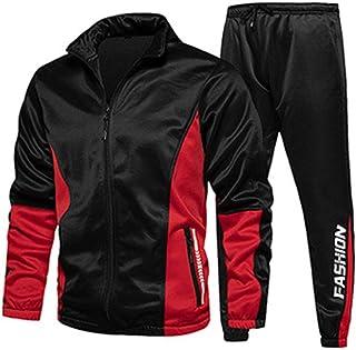 Men's Tracksuit Set Athletic Full-Zip Sweatsuits Casual Sport Jogging Suits Activewear