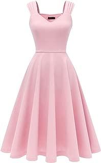 DRESSTELLS Women's Bridesmaid Vintage Tea Dress V-Neck Prom Party Swing Cocktail Dress