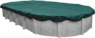 Pool Mate 391625-4-PM Commercial-Grade Winter Oval Above-Ground Pool Cover, 16 x 25-ft, Teal Green